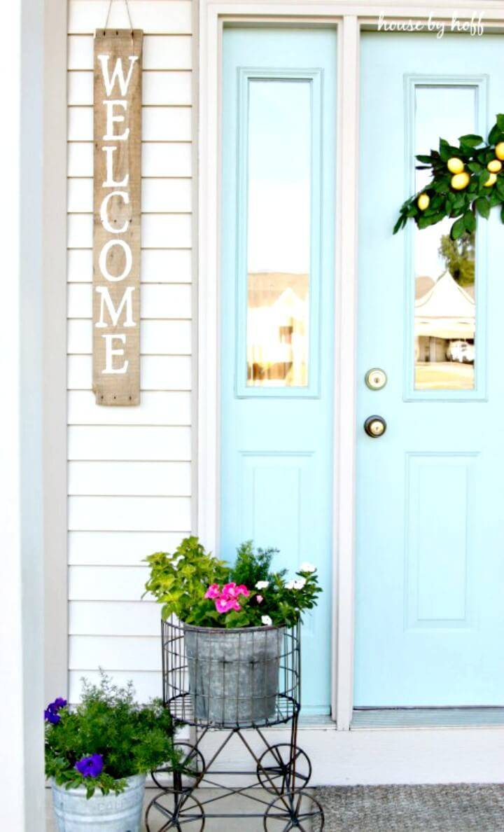 How to Make Front Door Welcome Sign - DIY