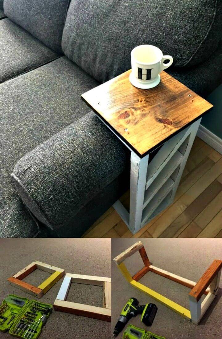 10 Best Diy Sofa Arm Table Ideas ⋆ Diy Crafts