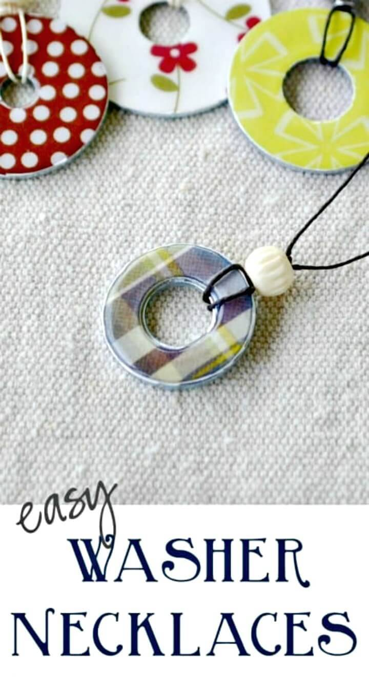 How to Make Washer Necklace - DIY