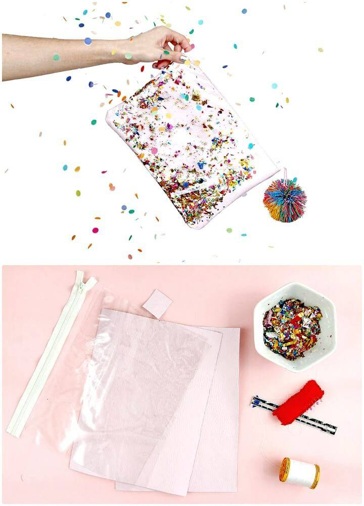 How to Make a Confetti Clutch - DIY