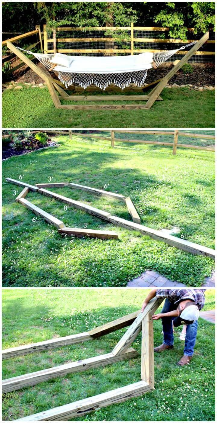 DIY Free-Standing Hammock Stand