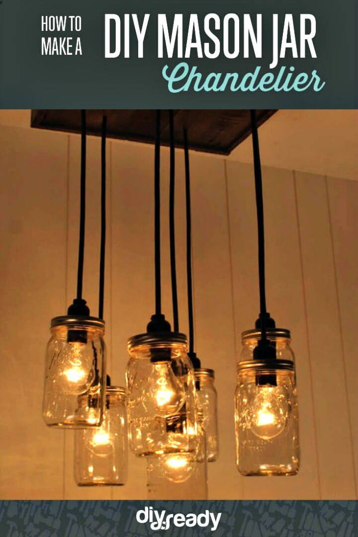 How to Make a Mason Jar Chandelier - DIY Mason Jar Crafts