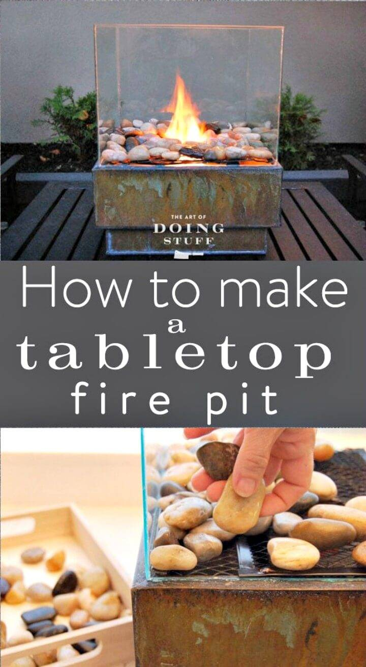 How to Make a Tabletop Fire Pit - DIY
