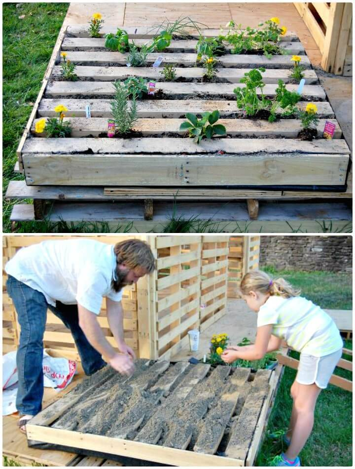 How to Plant an Herb Pallet Garden - DIY