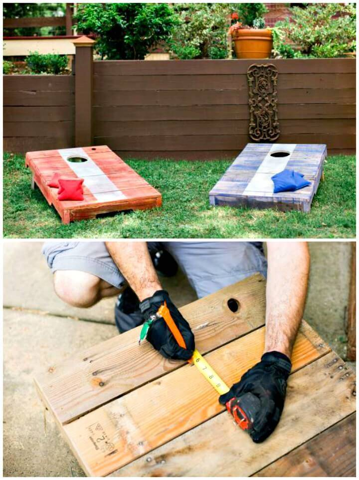 How to Up-cycle an Old Pallet Into a Corn-hole Game - DIY