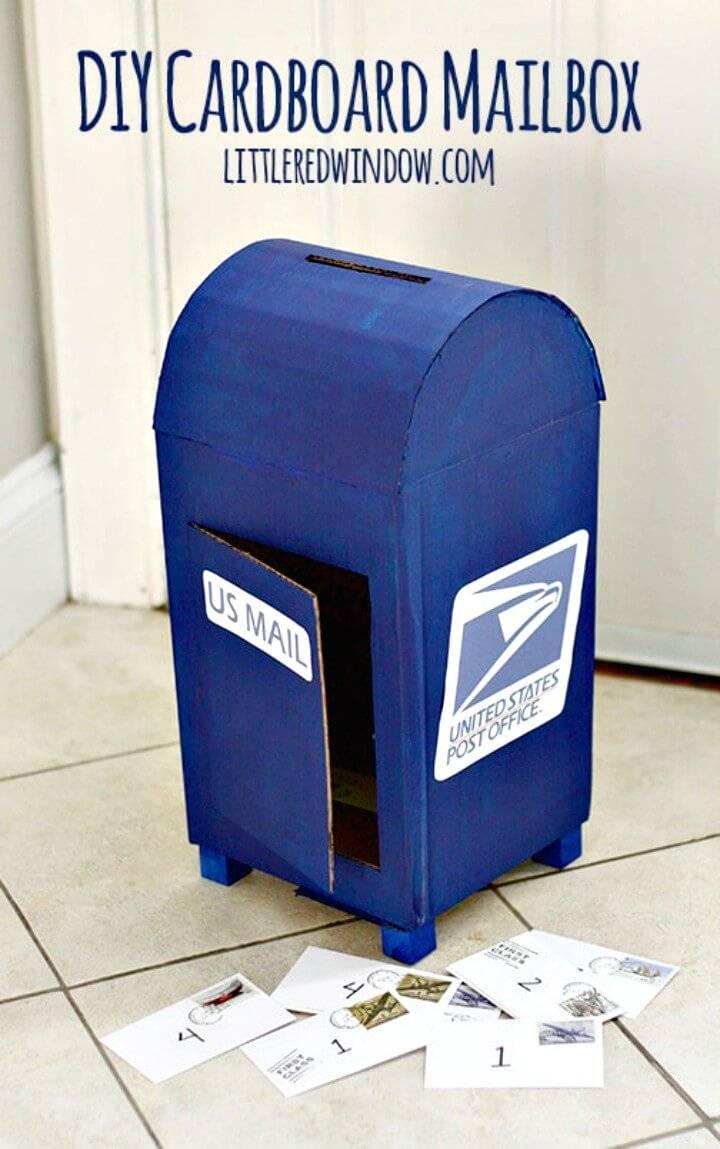 Inexpensive DIY Cardboard Mailbox