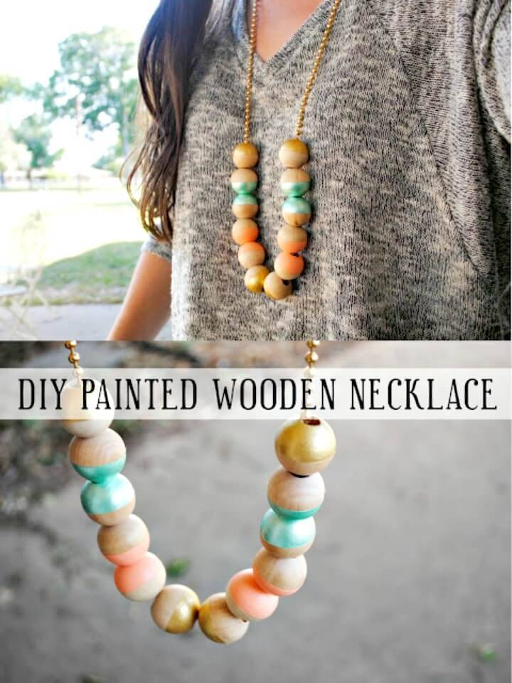 Make A Painted Wooden Necklace - DIY