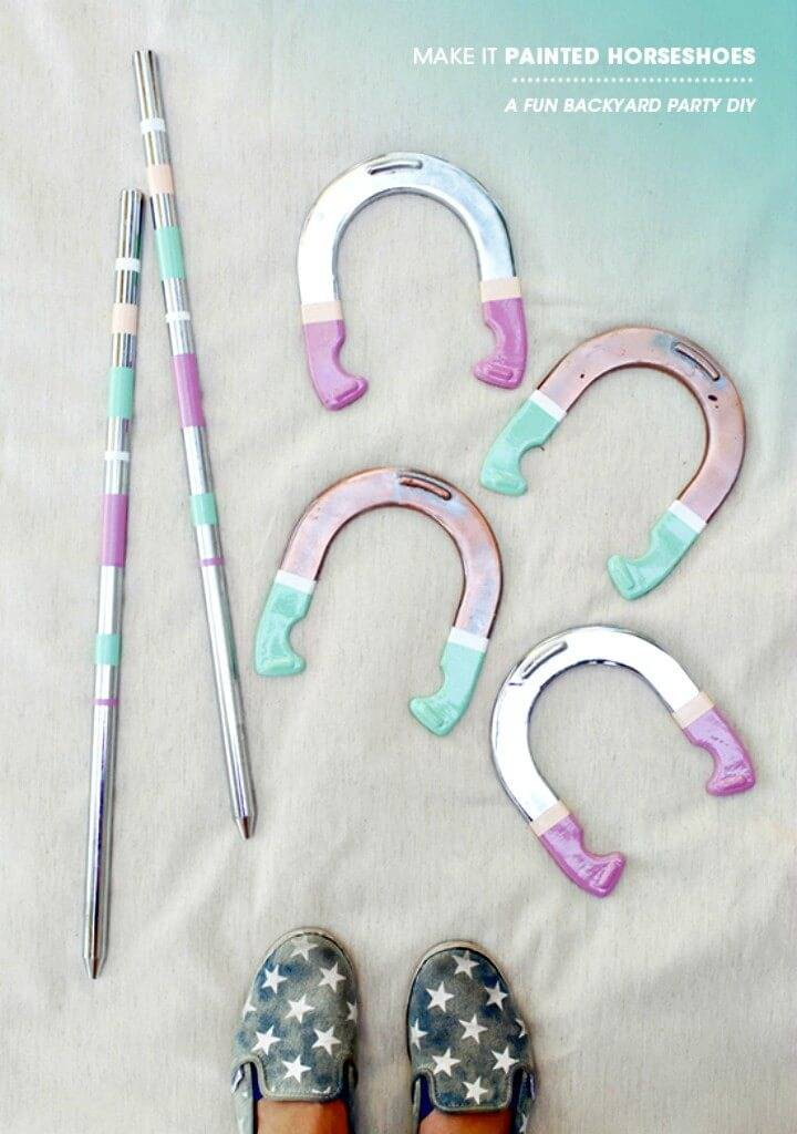 Make Your Own Pastel Horseshoes - DIY Outdoor Games For Summer & Spring