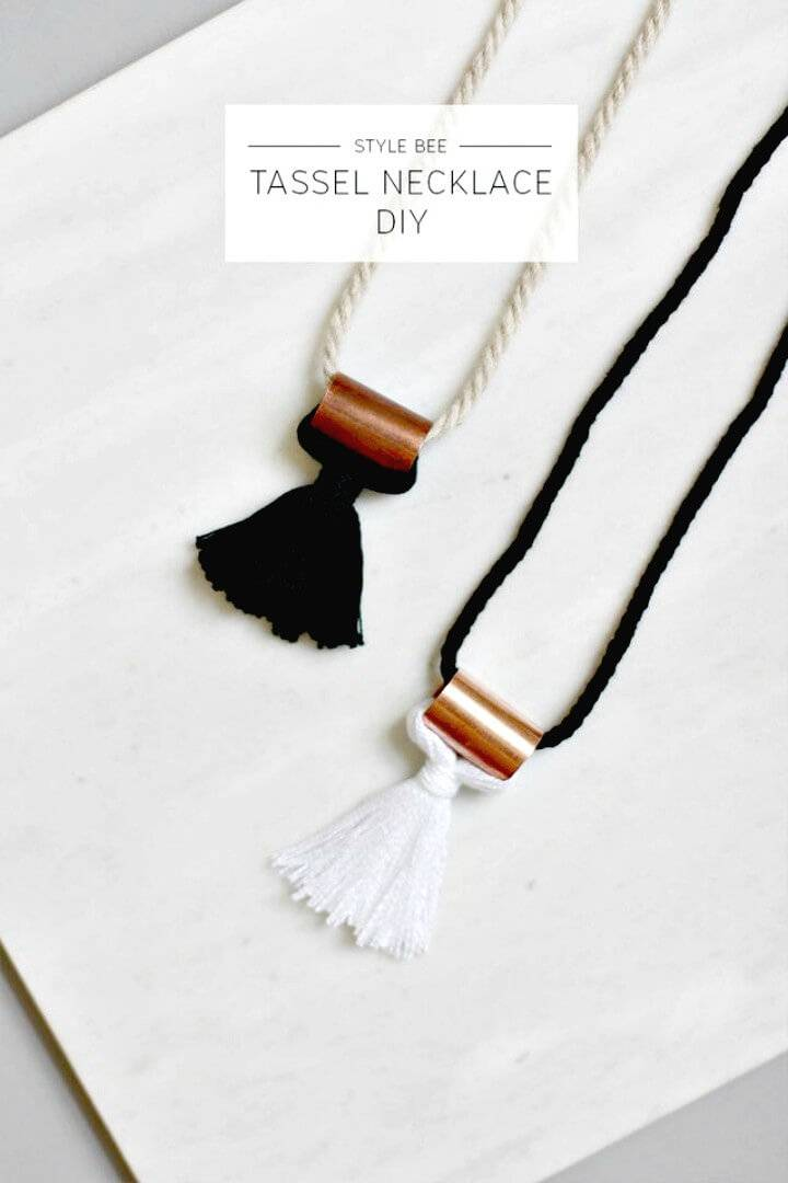 How to Make A Tassel Necklace - DIY