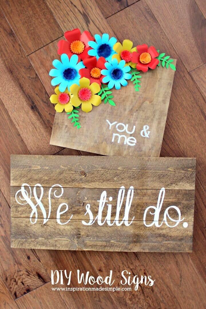 Make A Wood Signs - DIY Decor with Cricut Explore