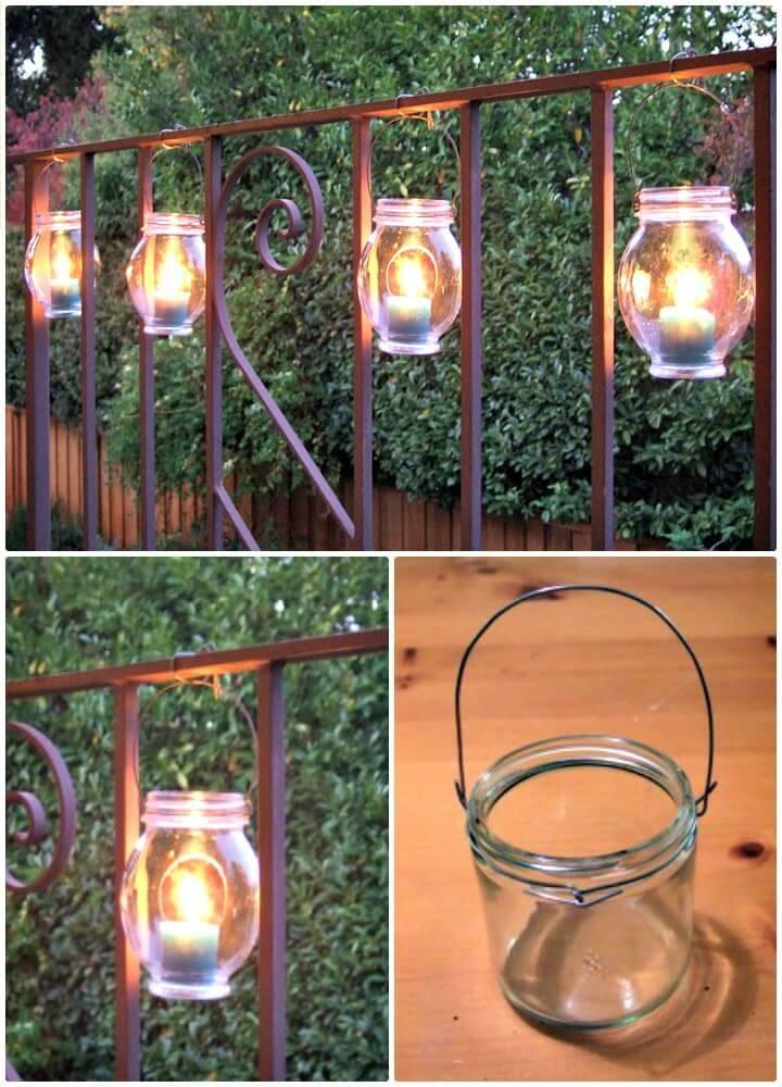 Make Backyard Hanging Jar Lanterns - DIY