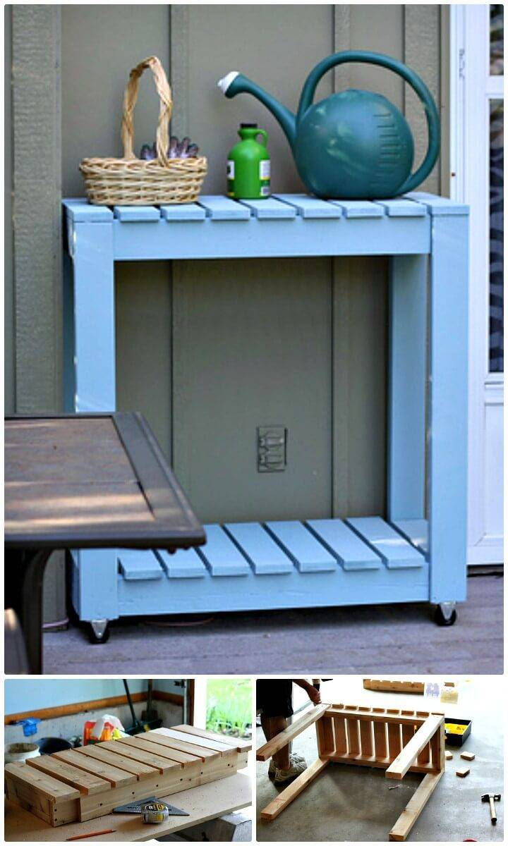 Make Outdoor Rolling Cart - DIY Backyard Ideas