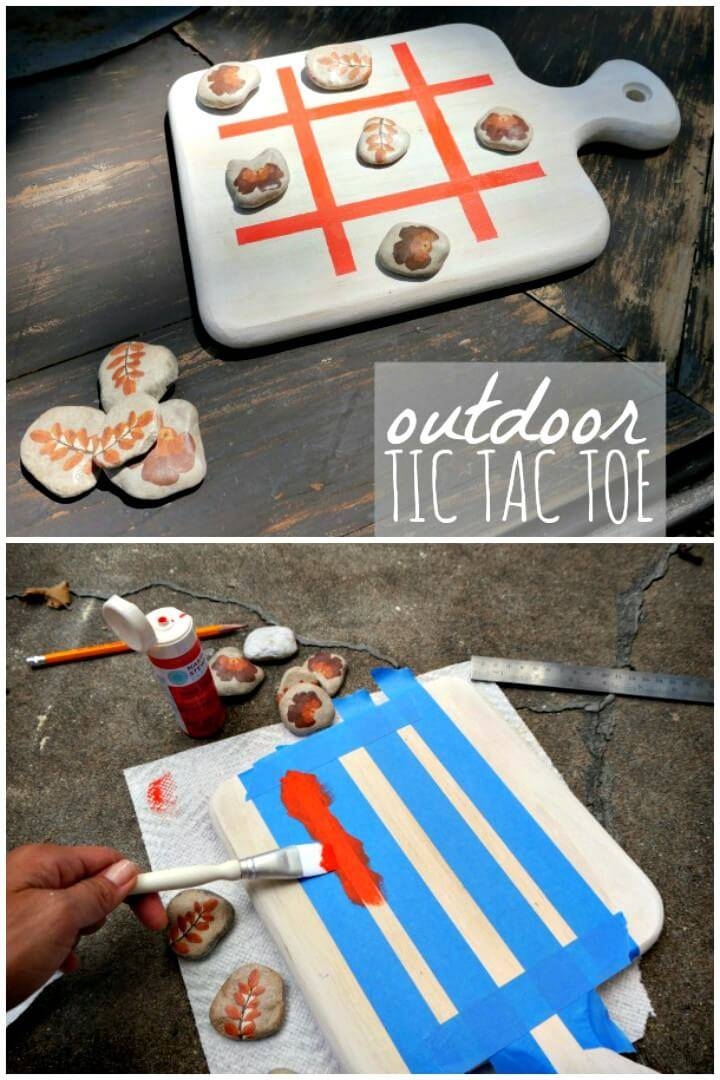 Make Your Own Outdoor Tic Tac Toe - DIY