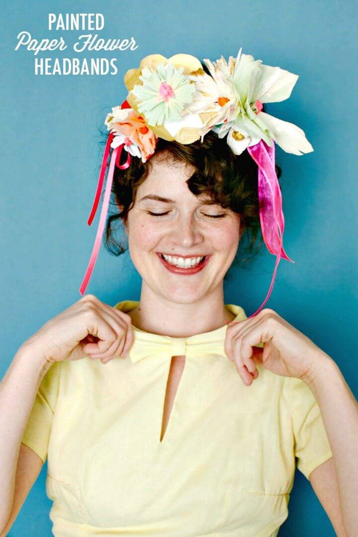 How to Make Painted Paper Flower Headbands