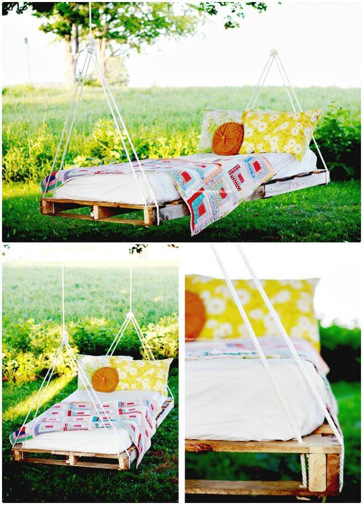How to Make Pallet Swing Bed - DIY