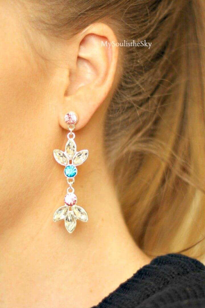 Make Pink and Blue Earrings - DIY