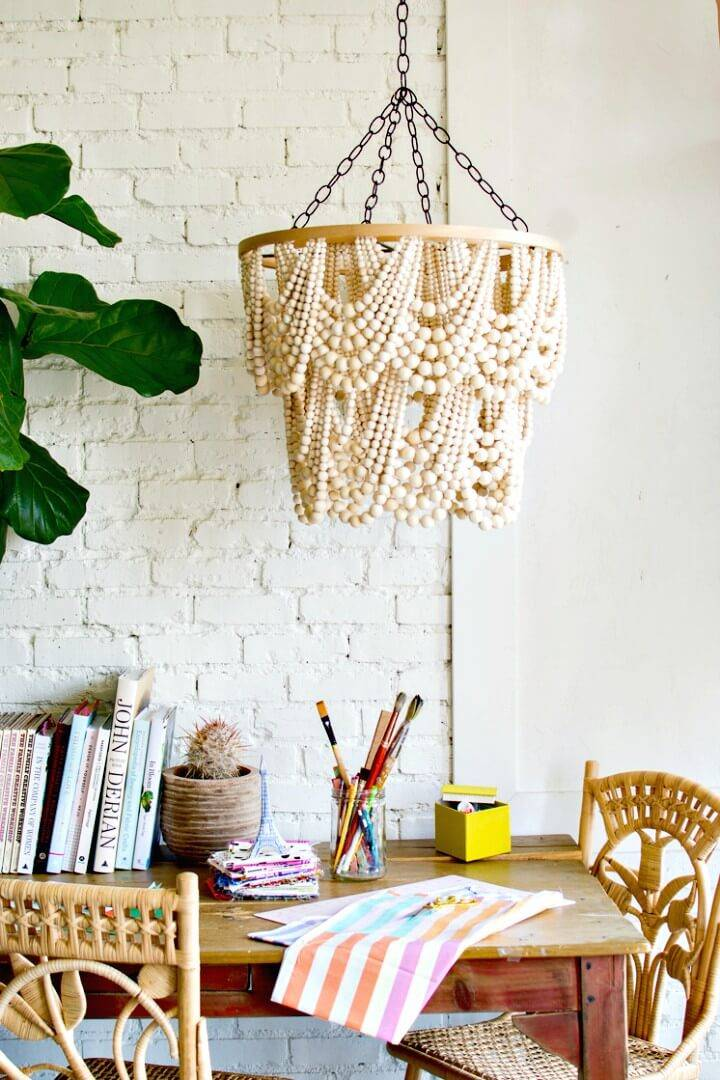 Make Your Own Bead Chandelier - DIY
