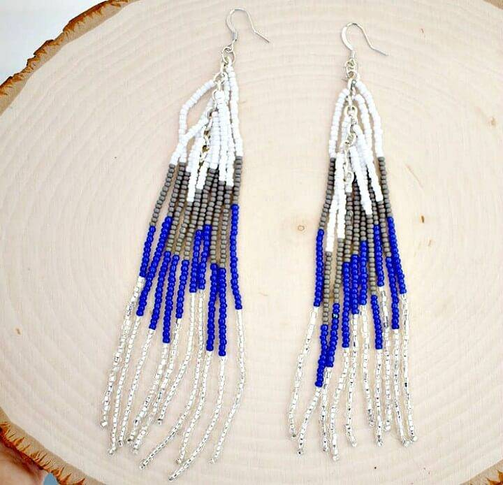 Make Your Own Beaded Fringe Earrings - DIY