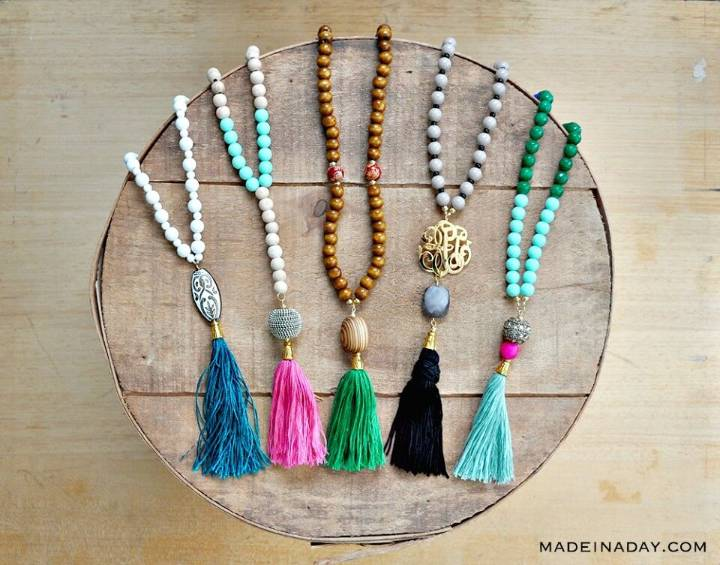 Make Your Own Beaded Tassel Necklaces