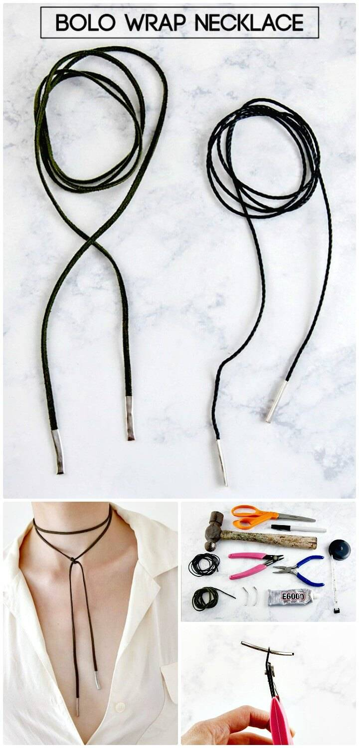 Quick to DIY Bolo Wrap Necklace