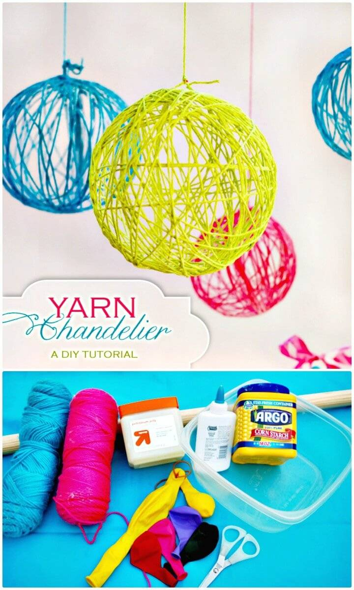 Go Also Smartly Handmade With The Yarn And Balloonake Brilliant Globes That Can Be Hanged Aloft Light Bulbs Inside For Making Outstanding