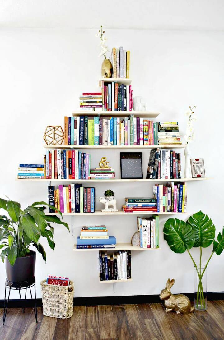 Make Your Own Diamond Shaped Book Shelves - DIY
