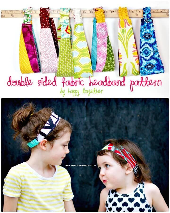 DIY Double Sided Fabric Headband Pattern