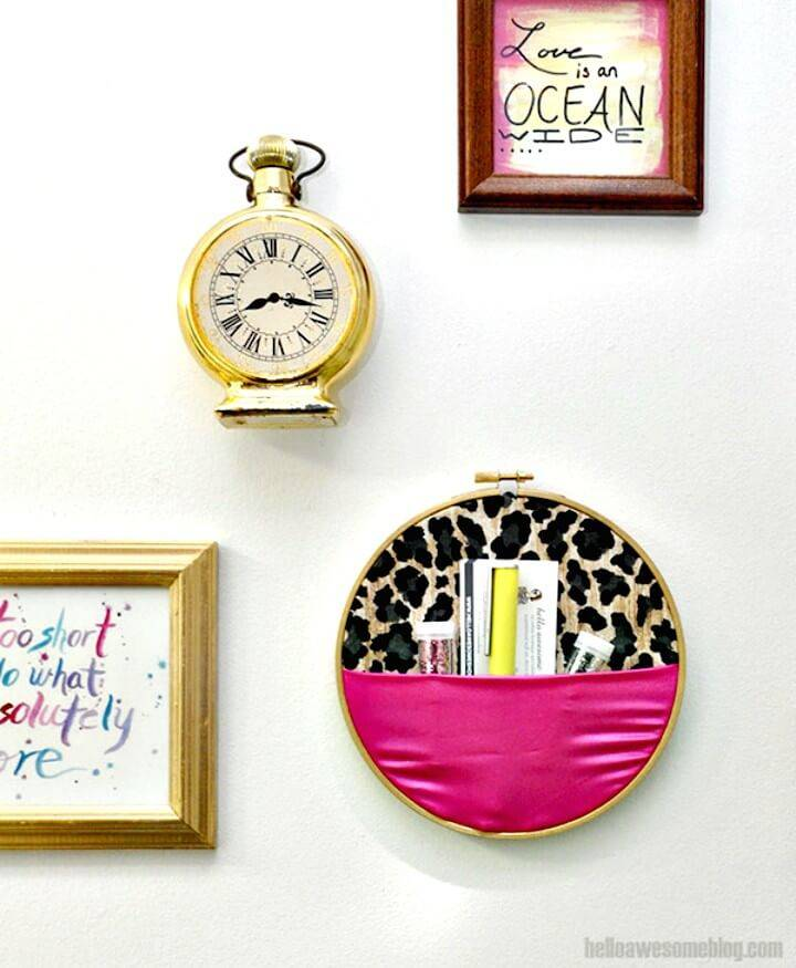 Make Your Own Embroidery Hoop Wall Organizer