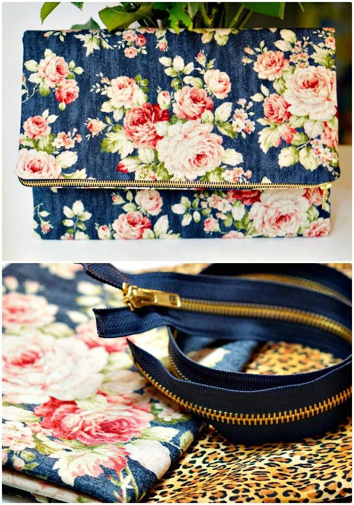 Make Your Own Foldover Clutch - DIY Gift Ideas