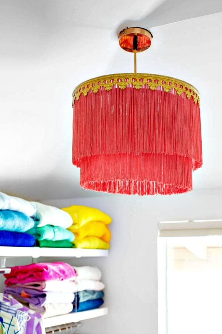 Make Your Own Fringe Chandelier - DIY