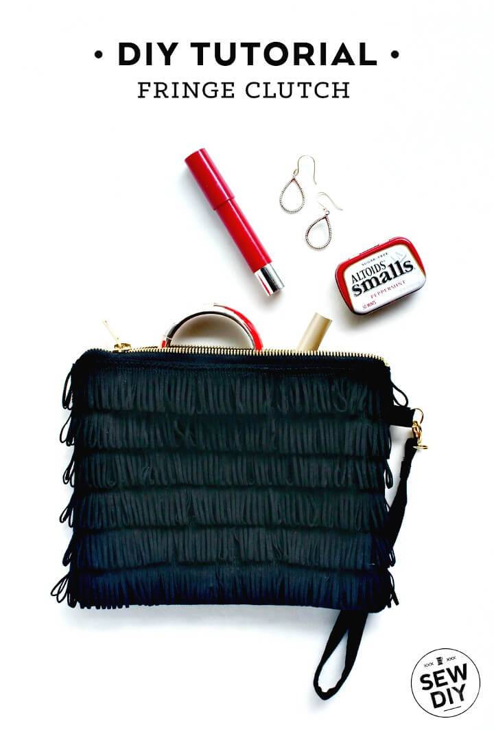 Make Your Own Fringe Clutch - DIY Gift Ideas