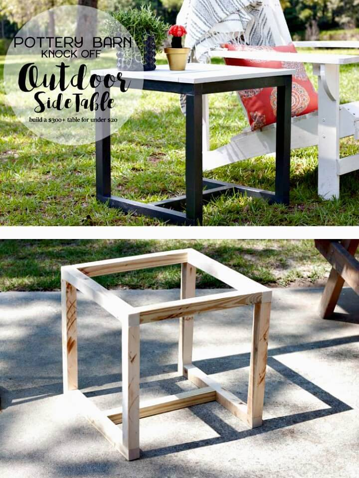 Make Your Own Garden Side Table - DIY Garden Furniture Ideas