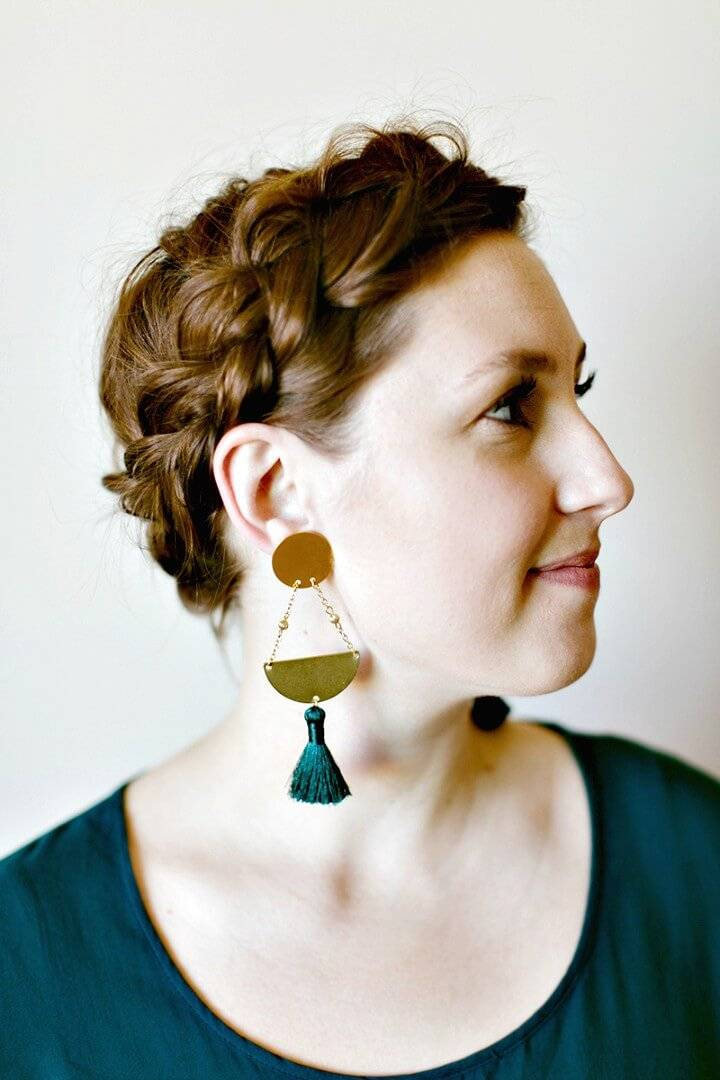 Make Your Own Geometric Tassel Earrings - DIY