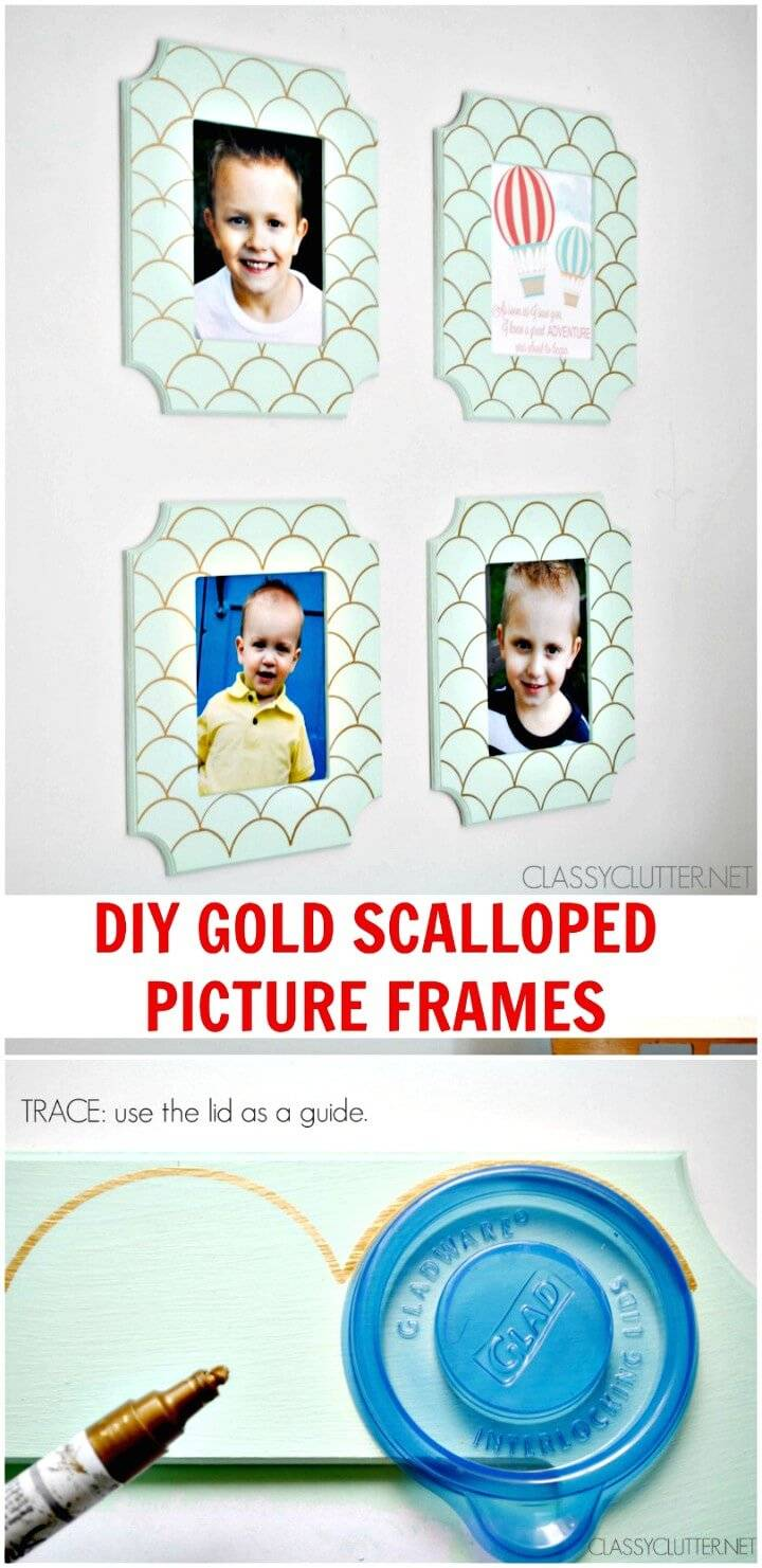 How to Make Gold Scalloped Frames - Free Printable
