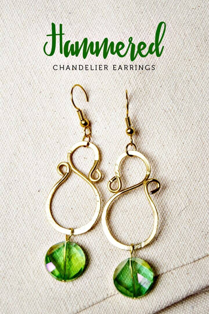 Make Your Own Hammered Chandelier Earrings - DIY