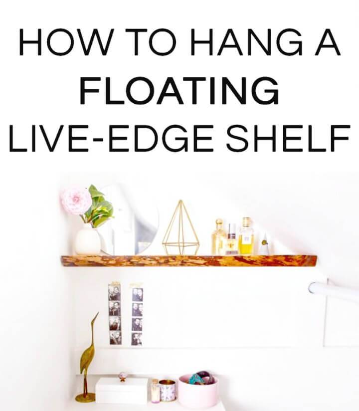 Make Your Own Hang Solid Wood Floating Shelves - DIY