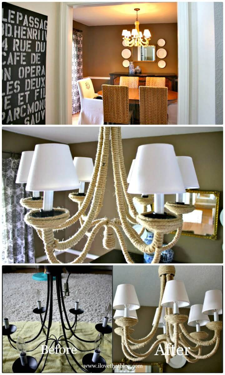 Make Your Own Knockoff Chandelier - DIY Indoor Lighting Ideas