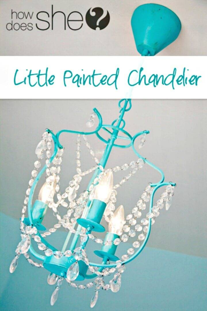 How to Make Little Painted Chandelier