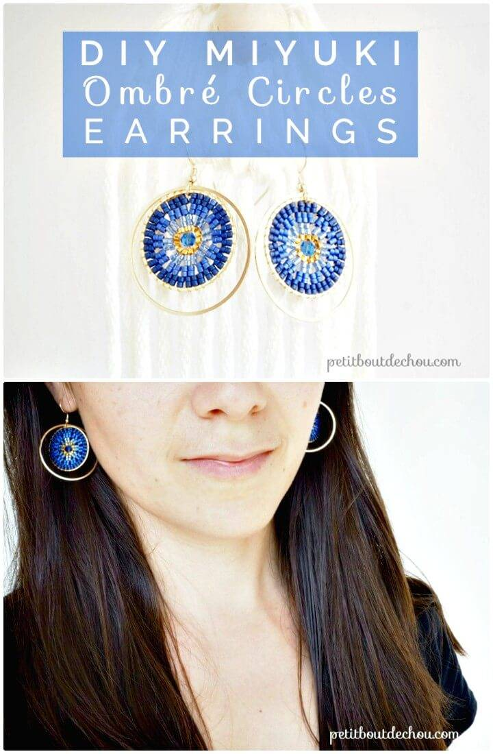 Make Your Own Ombré Circles Earrings - DIY
