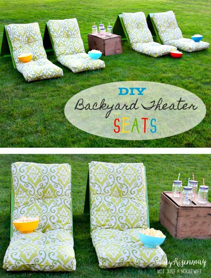 Make Your Own Outdoor Movie Theater Seats - DIY