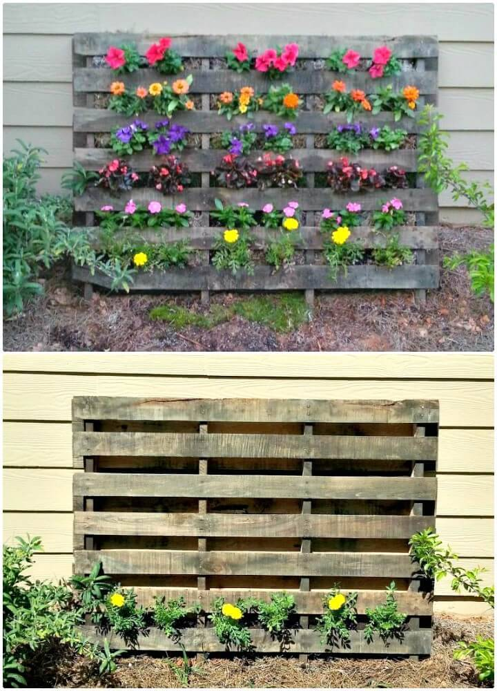 How to DIY Pallet Flower Garden