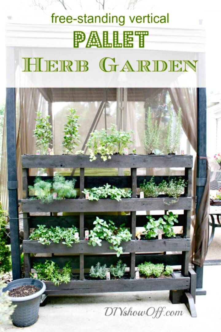 Make Your Own Pallet Herb Garden - DIY