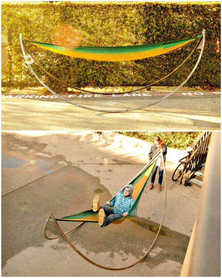 Easy DIY Rocking Hammock Stand Tutorial