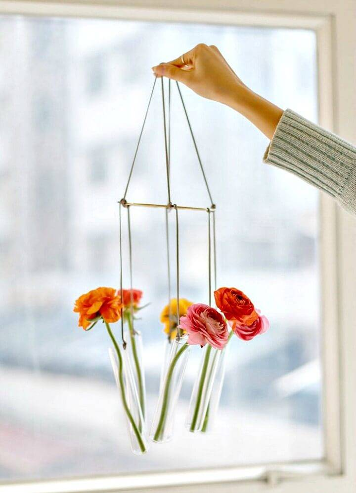 Make Your Own Test Tube Vase Chandelier - DIY