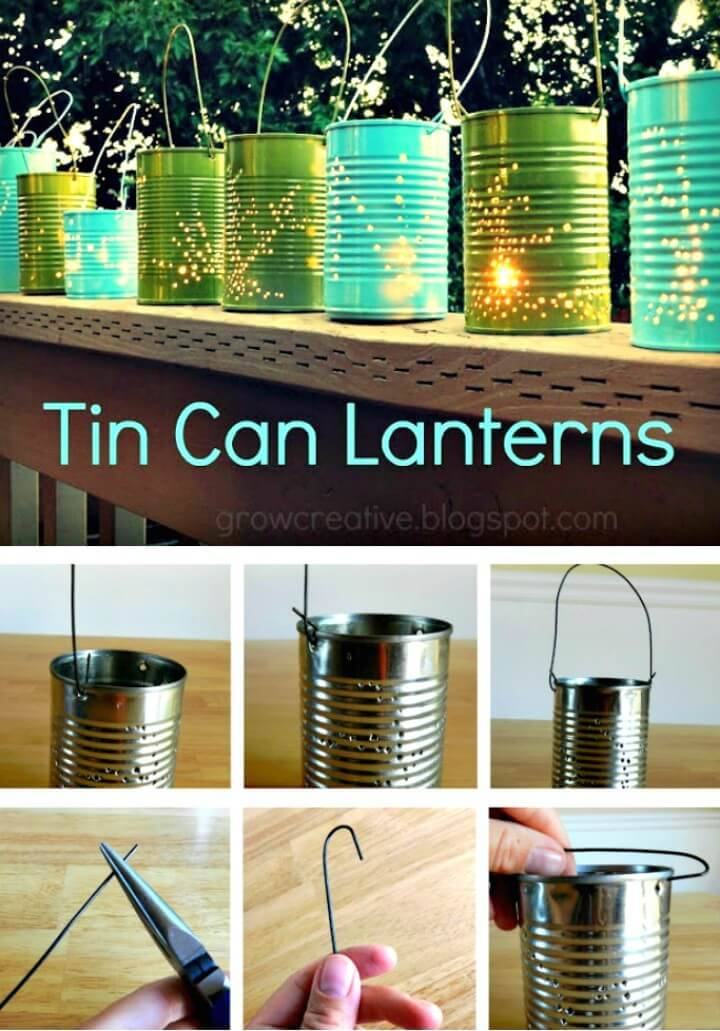 Make Your Own Tin Can Lanterns - DIY Backyard Ideas