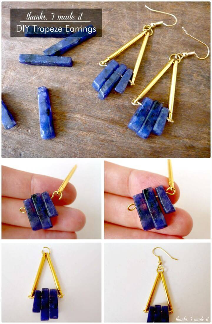 Make Your Own Trapeze Earrings - DIY