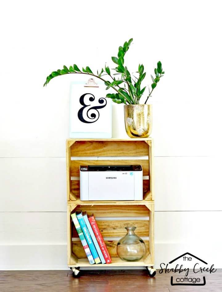 How to Make Your Own Wood Crate Rolling Cart