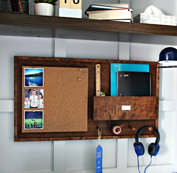 Make Your Own Wood Study Wall Organizer