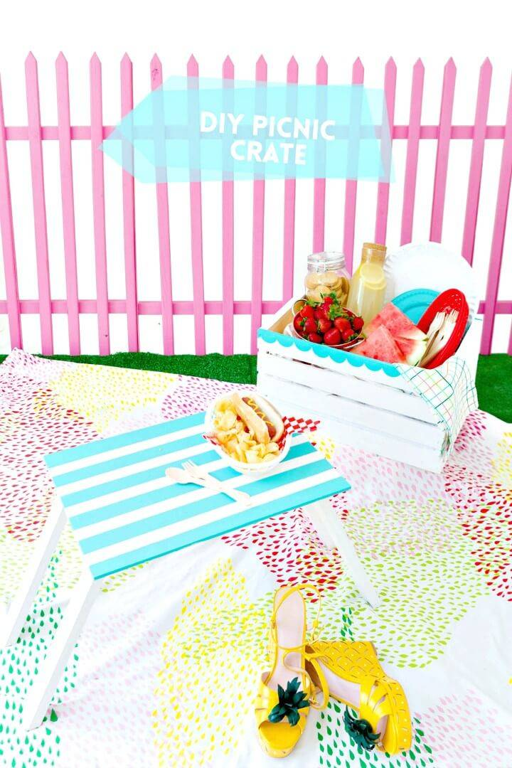 Make Your Own Wooden Crate Picnic Basket
