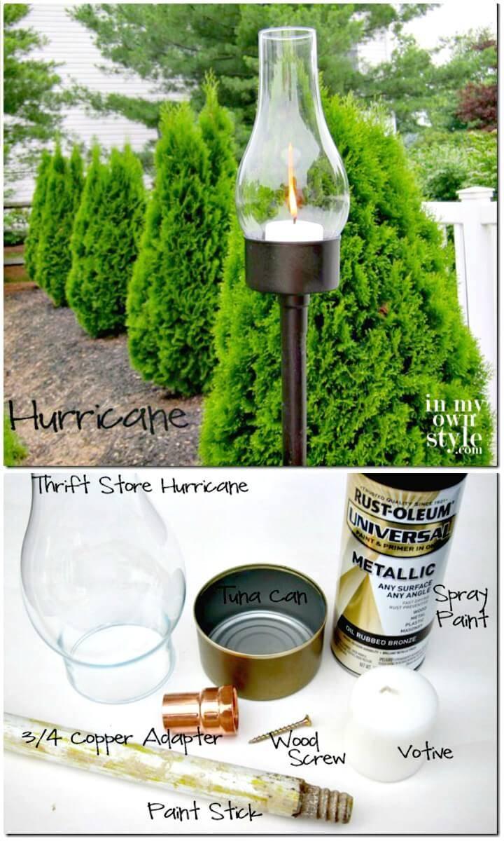 Make a Backyard Tuna Can Lantern - DIY